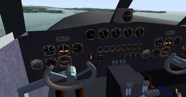 Cockpit Screenshot des Dornier Do R4 Nas Superwal