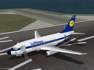 737-100 in Lufthansa colors