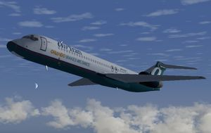 The Boeing 717 in the AirTran Airways livery